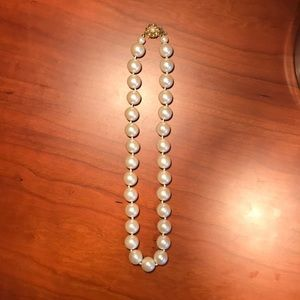 "Jewelry - 18"" 10mm Imitation Perl Necklace."